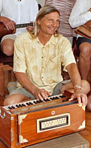 Michael Gornik of Polestar playing harmonium