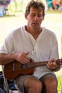 Rich Mills playing ukelele